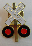 METAL LAPEL PIN, CROSSBUC